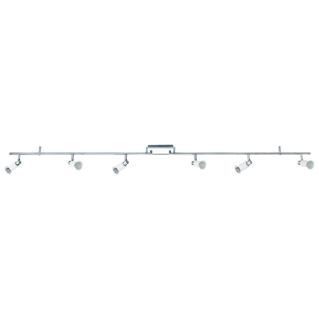 Eglo Wanddeckenleuchte Gu10 6x5w Weiß Glänzendchrom Eridan 90836